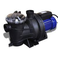Pompa di filtrazione elettrica per piscina 1200W Blu