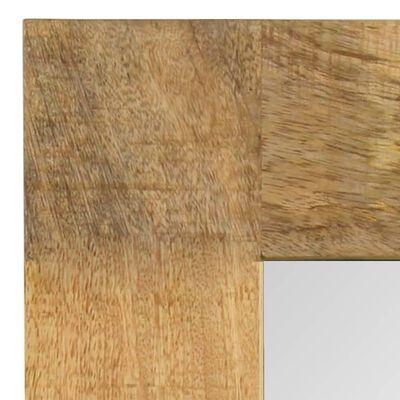 vidaXL Specchio in Legno Massello di Mango 50x50 cm