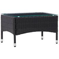 vidaXL Tavolino da Caffè Nero 60x40x36 cm in Polyrattan