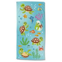 Good Morning Telo da Spiaggia TURTLES 75x150 cm Multicolore