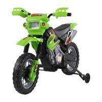 HomCom Moto Cross Elettrica per Bambini con Rotelle, Verde