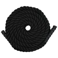 vidaXL Battle Rope 15 m in Poliestere Nero