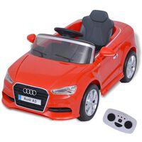vidaXL Automobile Elettrica con Telecomando Audi A3 Rossa