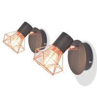 vidaXL Applique 2 pz con 2 Lampadine a LED a Incandescenza 8 W