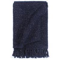 vidaXL Copriletto con Lurex 220x250 cm Blu Marino