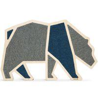 Beeztees Pannello Tiragraffi Blue Bear 75x50x1,8 cm in Legno