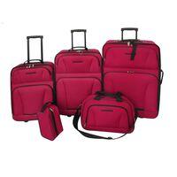 vidaXL Set da Viaggio Trolley e Borse 5 pz Rosso