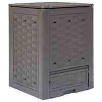 vidaXL Compostiera per Giardino Marrone 60x60x83 cm 300 L