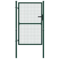 vidaXL Cancello per Recinzione in Acciaio 100x125 cm Verde