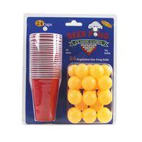 Set birra pong, 24 tazze e palline