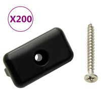 vidaXL Clip per Decking con Viti 200 pz in Plastica e Acciaio Inox