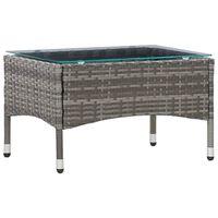 vidaXL Tavolino da Caffè Grigio 60x40x36 cm in Polyrattan