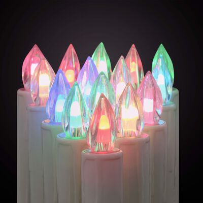 vidaXL Candele Natalizie Senza Fili a LED con Telecomando 100 pz RGB, RGB