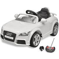 vidaXL Macchina Cavalcabile Audi TT RS Telecomandata Bambini Bianca