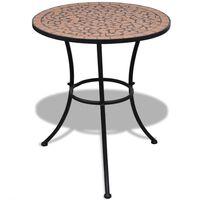 vidaXL Tavolo da Bistrot Terracotta 60 cm a Mosaico