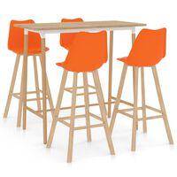 vidaXL Set da Bar 5 pz Arancione