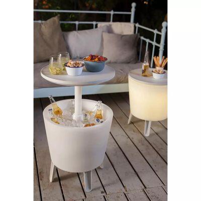 Keter Tavolo da Bar con Refrigeratore Illuminato Bianco 232924