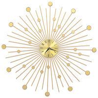 vidaXL Orologio da Parete in Metallo 70 cm Dorato