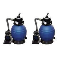 vidaXL Pompe con Filtro a Sabbia 2 pz 400 W 11000 l/h