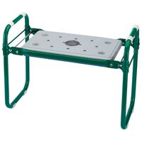 Draper Tools Sedile/Inginocchiatoio da Giardino Pieghevole Ferro Verde 64970