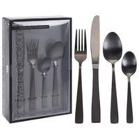 Excellent Houseware Set di Posate 16 pz in Acciaio Inossidabile Nero