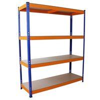 Scaffale S-rax In Acciaio Senza Bulloni Blu E Arancione 150cm