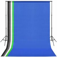 vidaXL Kit Studio Fotografico 5 Scenari Colorati e Sostegno Regolabile