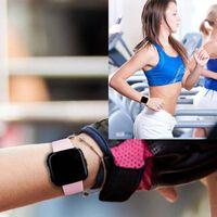 Braccialetto Fitbit Versa in gomma - rosa - S