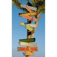Good Morning Telo da Spiaggia CITY SIGNS 100x180 cm Blu