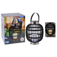 ProGarden Lanterna Solare a LED con Candela Nera