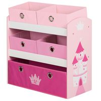 roba Mobile Portagiochi Crown Rosa 63,5x30x60 cm in MDF