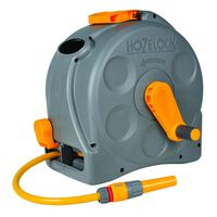 """Hozelock Free Standing/Wall Mounted Hose Reel with 25 m Hose """"Compact Reel"""""""