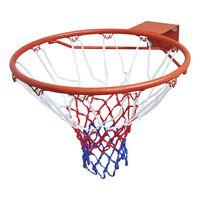 vidaXL Set Canestro da Basket con Rete Arancione 45 cm