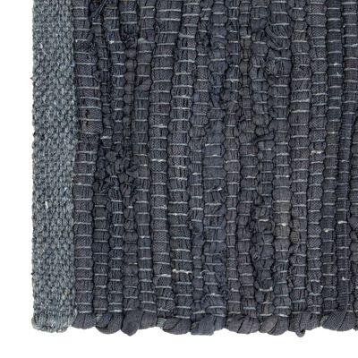 vidaXL Tovagliette 4 pz Chindi Neutro Antracite 30x45 cm Cotone