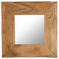 vidaXL Specchio Cosmetico in Legno Massello di Acacia 50x50 cm