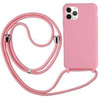Custodia per iPhone 12 Mini con collana in TPU rosa