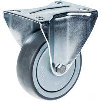 """Pneumatico in gomma grigio ricino da 4 """"da 100 mm con capacità di 110"""