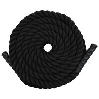 vidaXL Battle Rope 12 m in Poliestere Nero