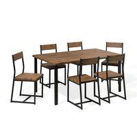 Set tavolo e sedie per 6 persone 150 cm LAREDO