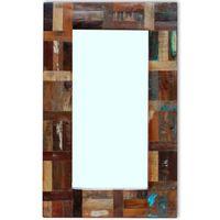 vidaXL Specchio in Legno Massello di Recupero 80x50 cm