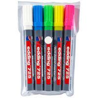 edding Pennarelli Neon per Lavagne 5 pz Multicolore 725