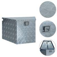 vidaXL Scatola in Alluminio 737/381x410x460 mm Argento