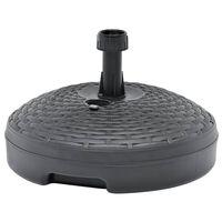 vidaXL Base Ombrellone Riempibile Sabbia/Acqua 20L Antracite Plastica