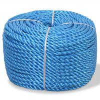 vidaXL Corda Intrecciata in Polipropilene 14 mm 100 m Blu