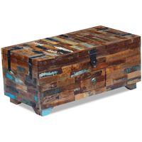 vidaXL Tavolino da Caffè Baule Legno Massello di Recupero 80x40x35 cm