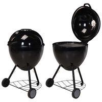ProGarden Griglia Barbecue con Bollitore 54x92 cm