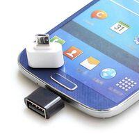 Adattatore USB a MicroUSB OTG - bianco