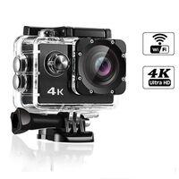 Videocamera d'azione WiFi 4K con accessori