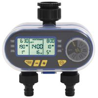 vidaXL Timer per Irrigazione Automatico Digitale a Doppia Uscita