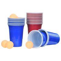 vidaXL Set per Beer Pong da Tavolo 0,5 L Plastica